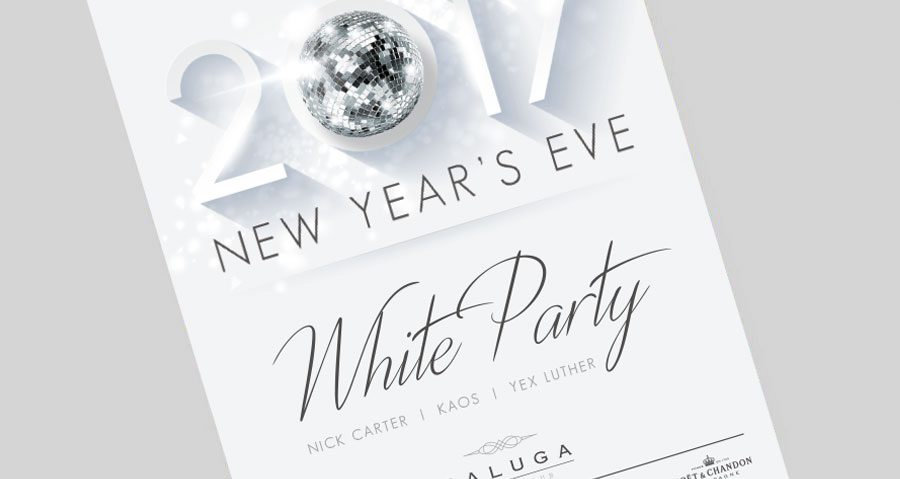 NEW YEARS EVE WHITE PARTY – SATURDAY 31ST DECEMBER