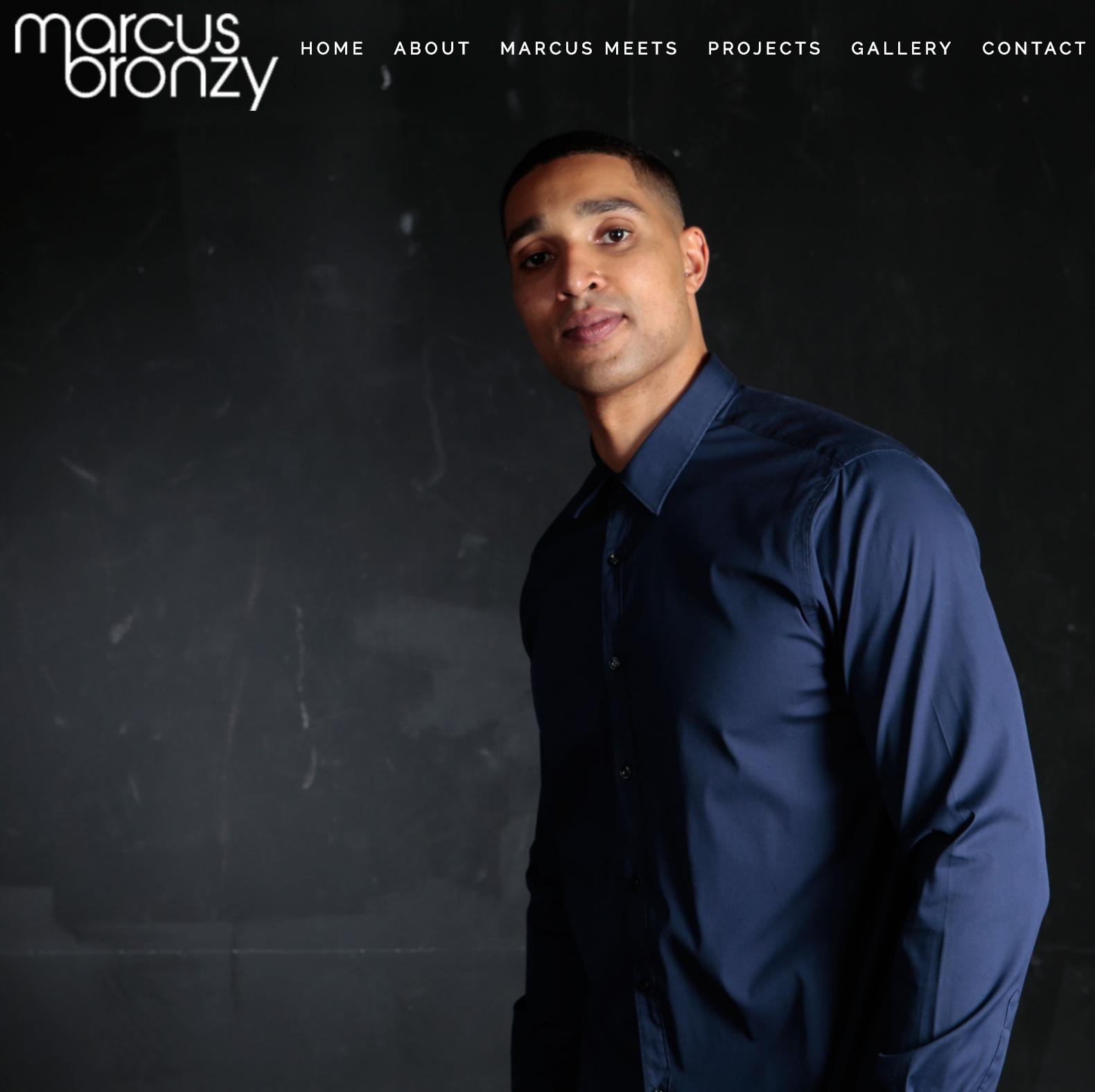 Marcus Bronzy website overhaul