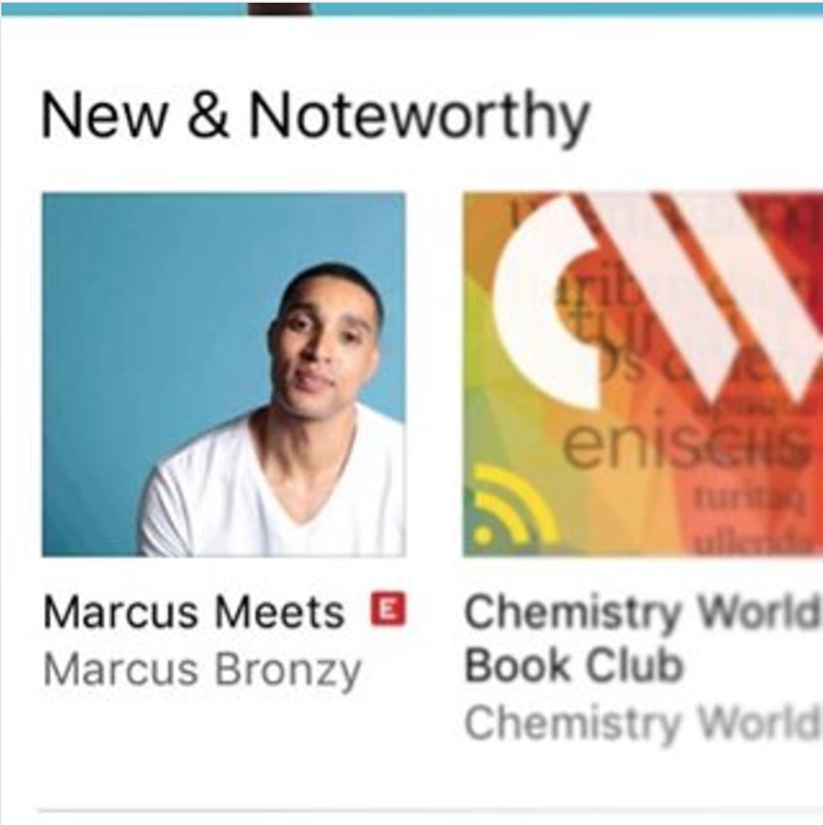 iTunes 'New & Noteworthy'