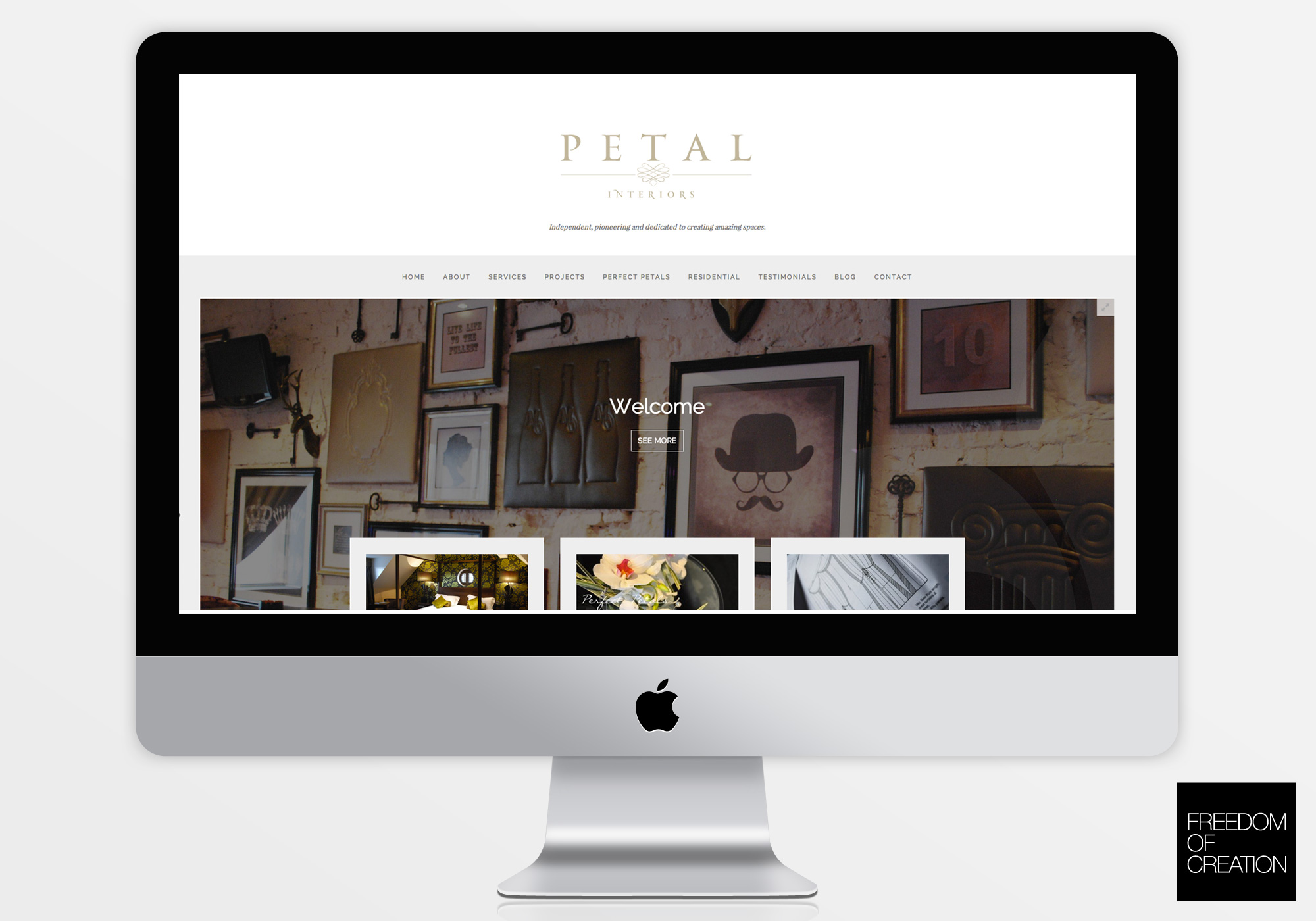 Petal interiors website freedom of creation old for Carter wells interior design agency