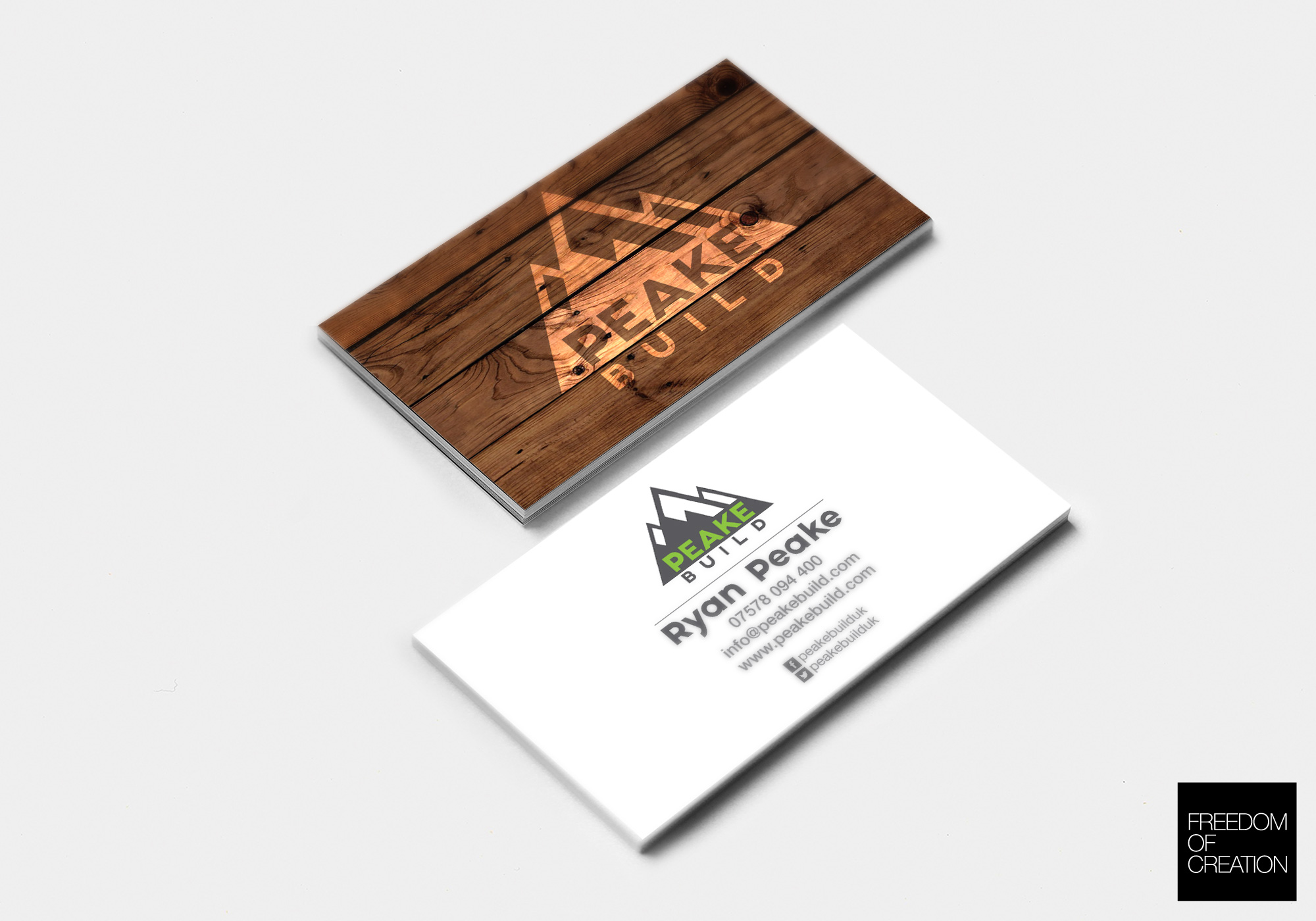 Peake Build Business Cards | Freedom Of Creation OLD