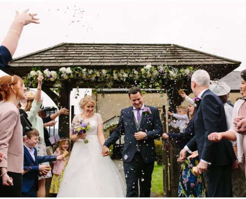 bride and groom at The inn at whitewell clitheore wedding