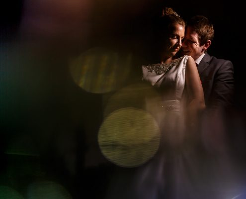 portrait photo of the bride and groom at a Lancashire wedding venue