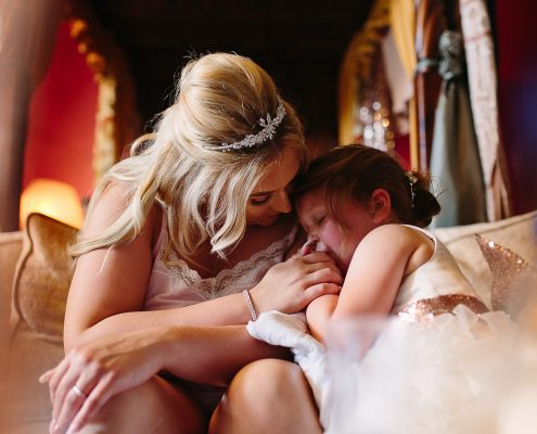 mum and daughter at bartel hall wedding photography venue lancashire