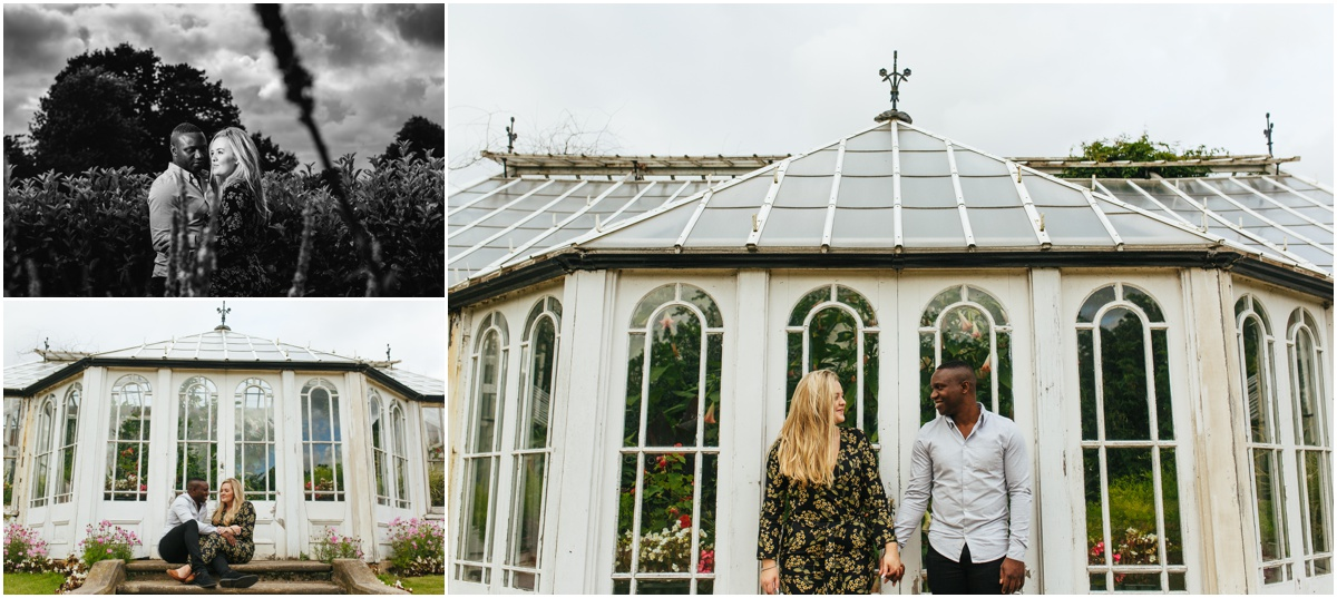 pre wedding shoot at worden park out side the gardens