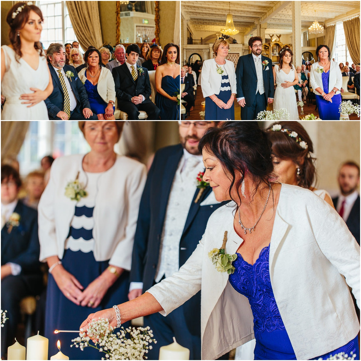 family lighting candle st james street liverpool wedding