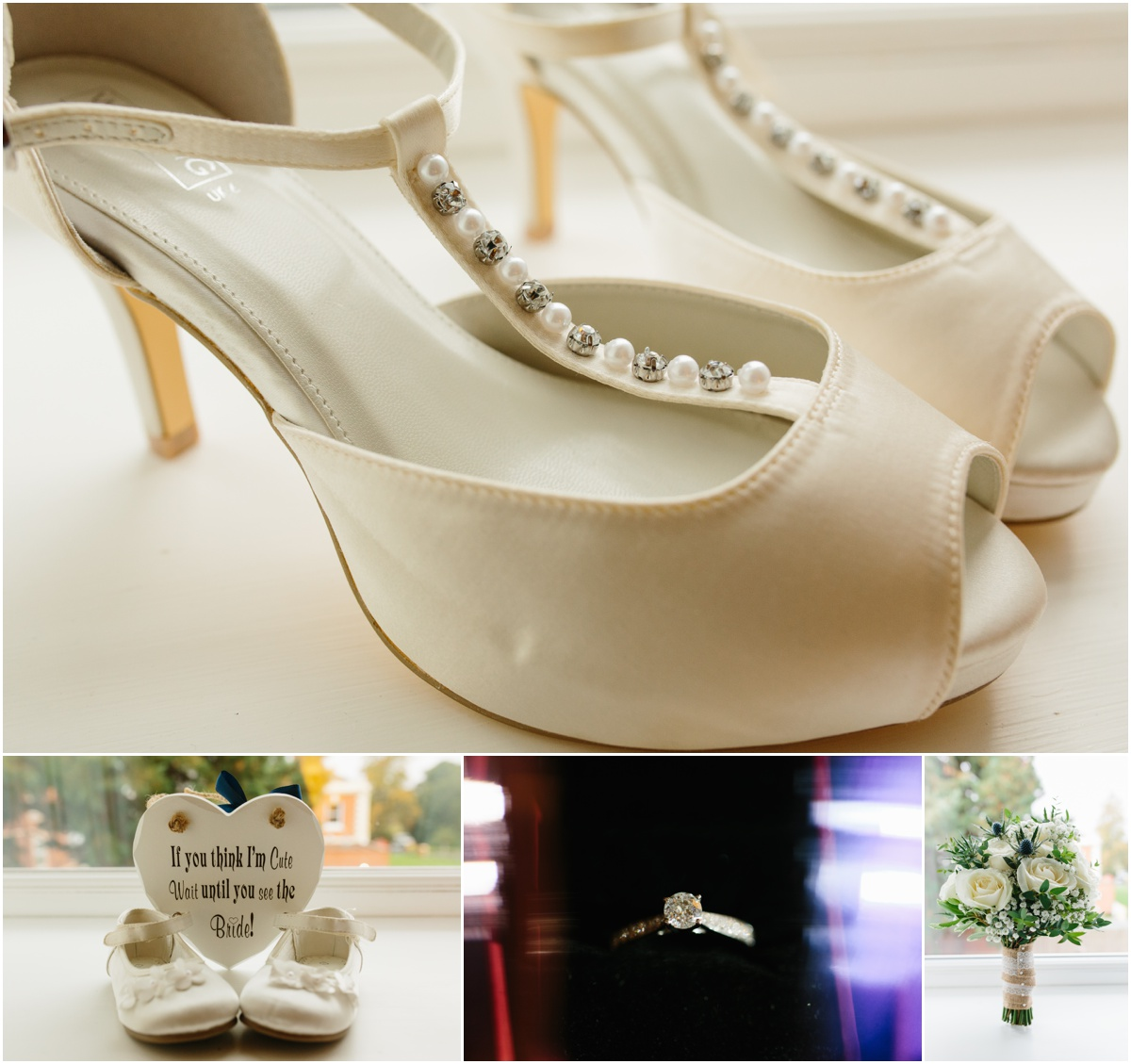 Wedding shoes at the wedding venue