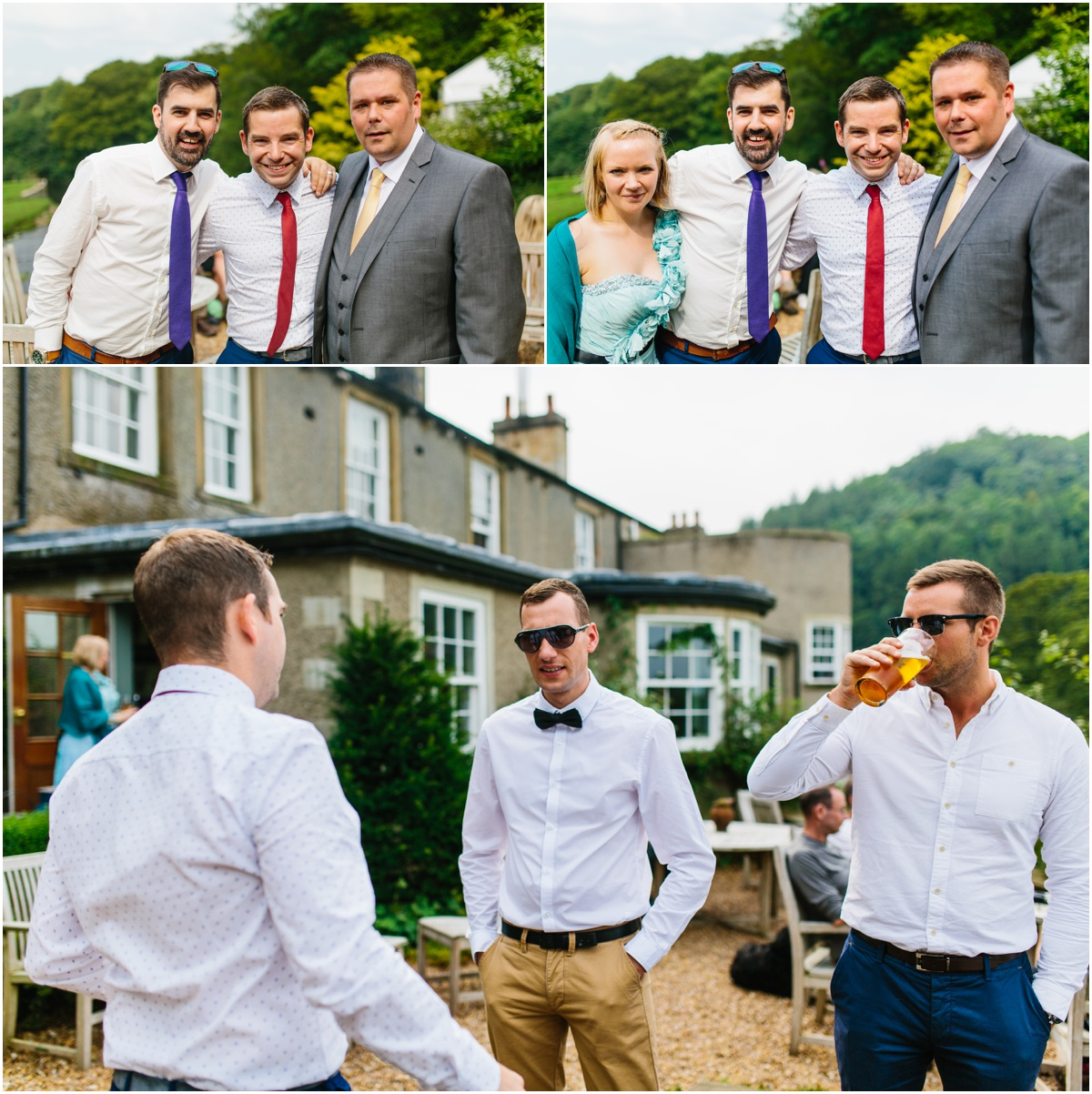 friends and family at the inn at whitewell photography lancashire