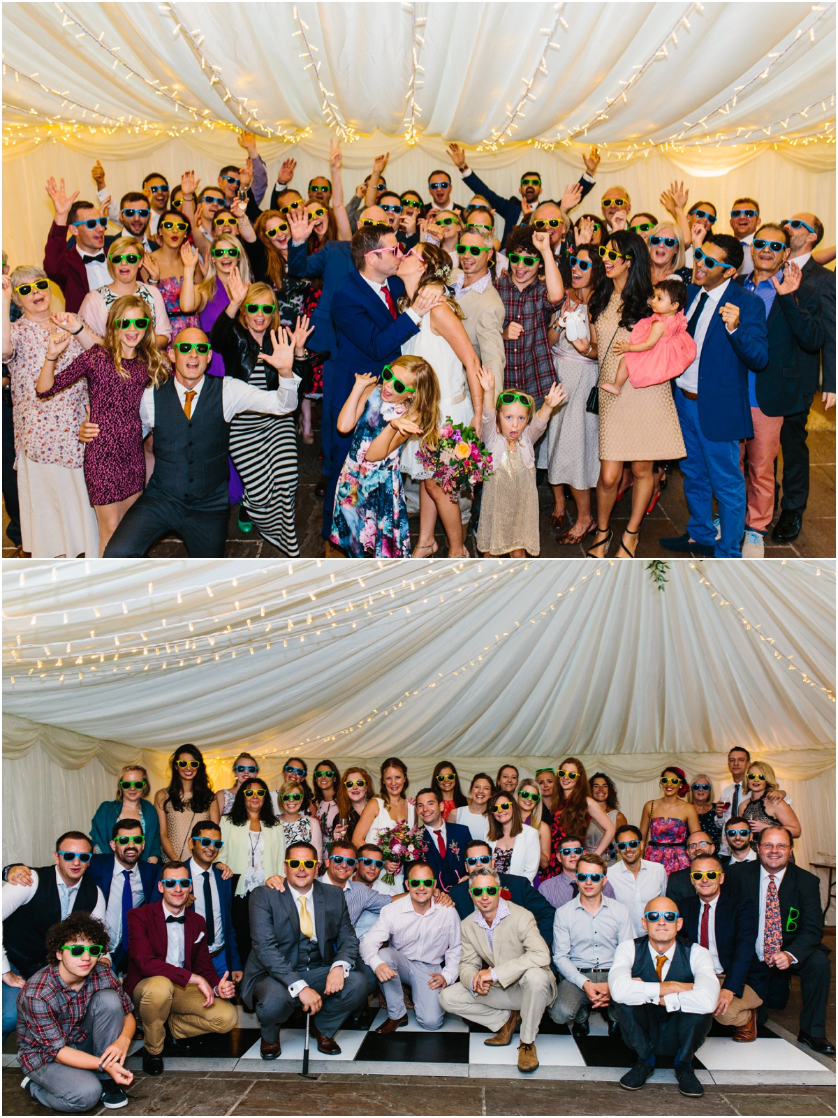 group photos of all wedding guests inn at whitewell venue