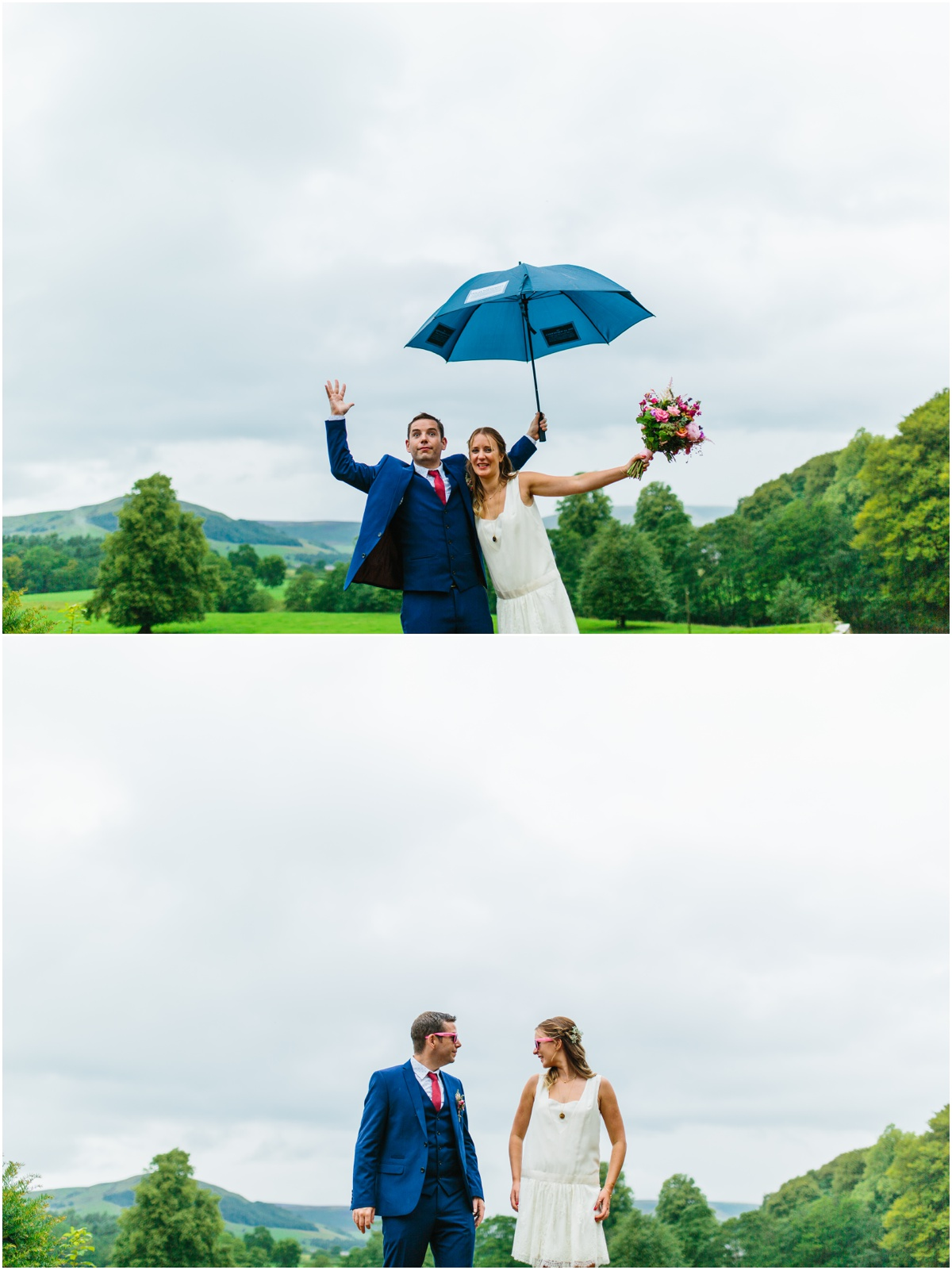 bridal shoot with the happy couple inn at whitwelll venue