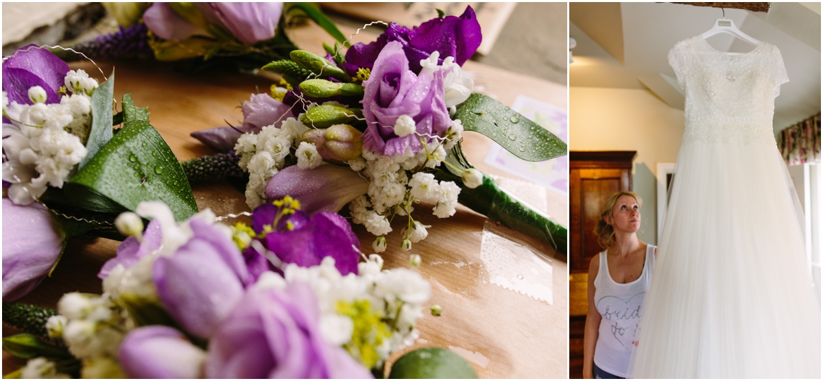 flowers for the bride at inn at whitewell