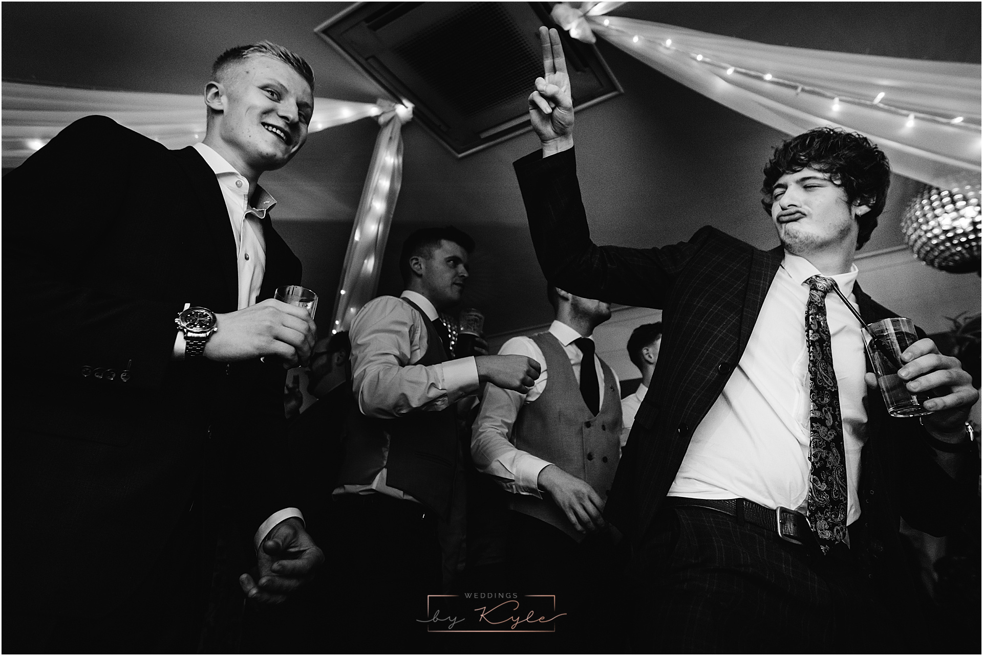 Party wedding ribble valley guests dancing
