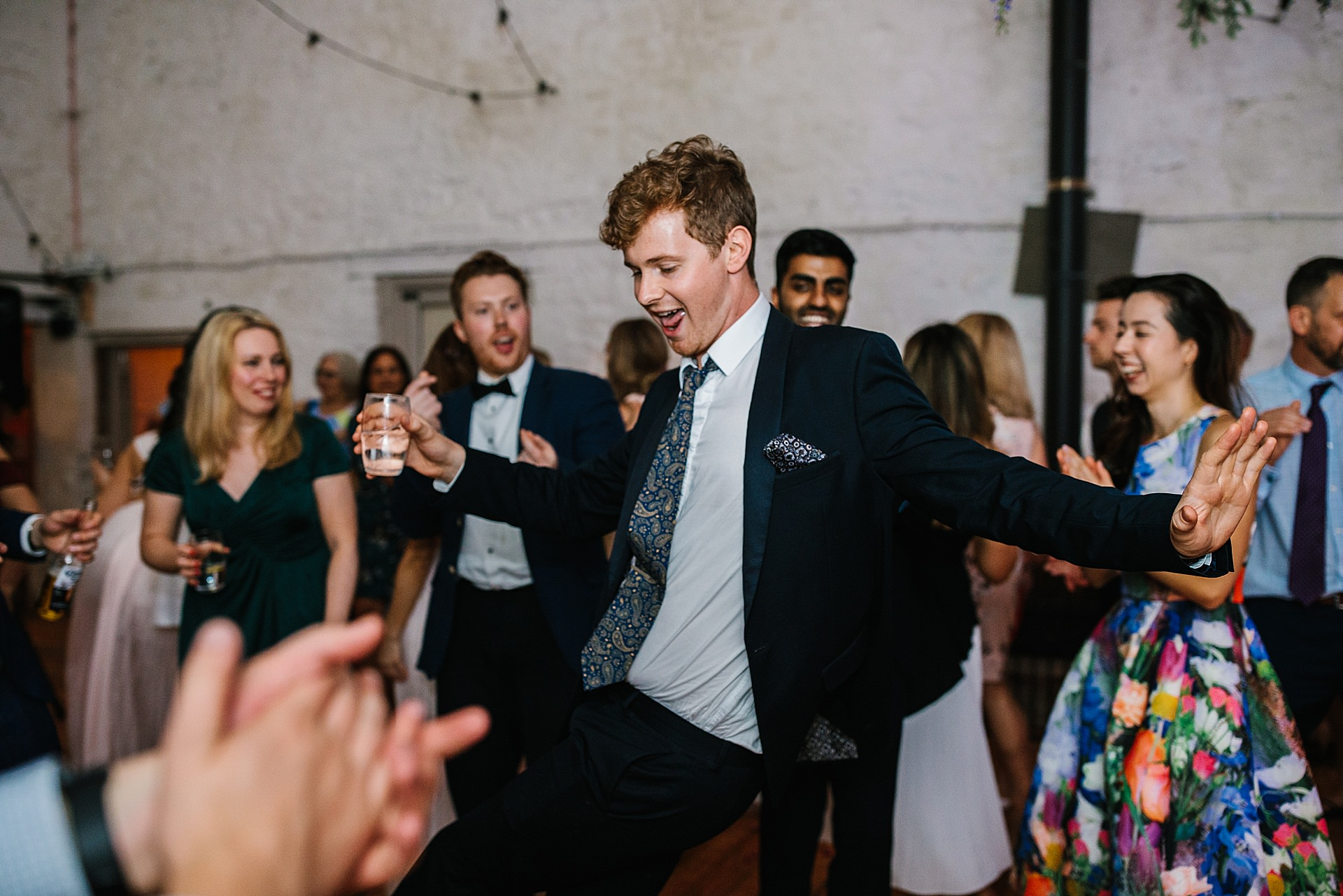 Wedding Party Dancing at wyresdale park wedding photography lancashire