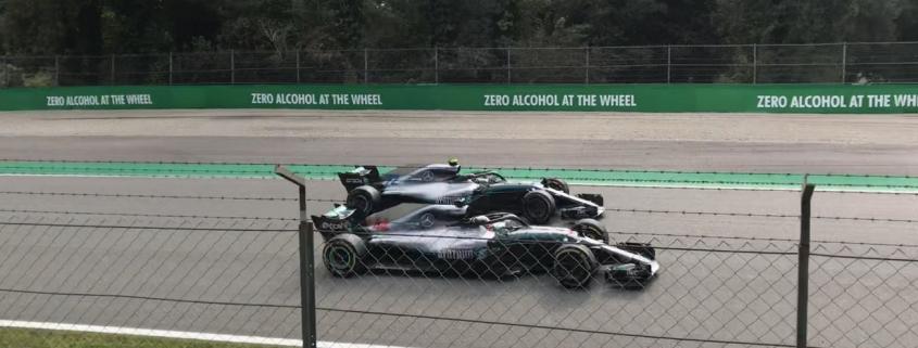 Lewis Hamilton and Valteri Bottas Monza