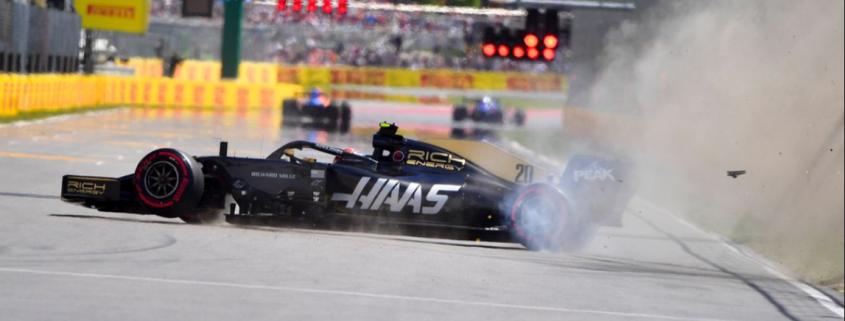 Kevin Magnussen Crash Canada