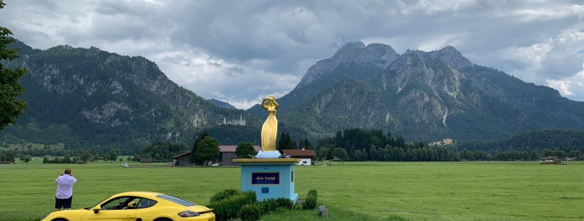 german high alpine road at fussen