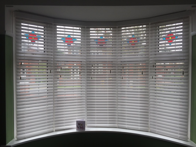 Fauxwood Venetian Blinds In A Bay Window Sovereign Blinds