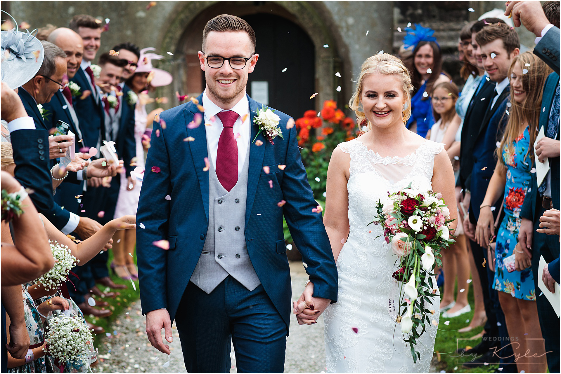 ribble valley shireburn arms hotel wedding bride and groom