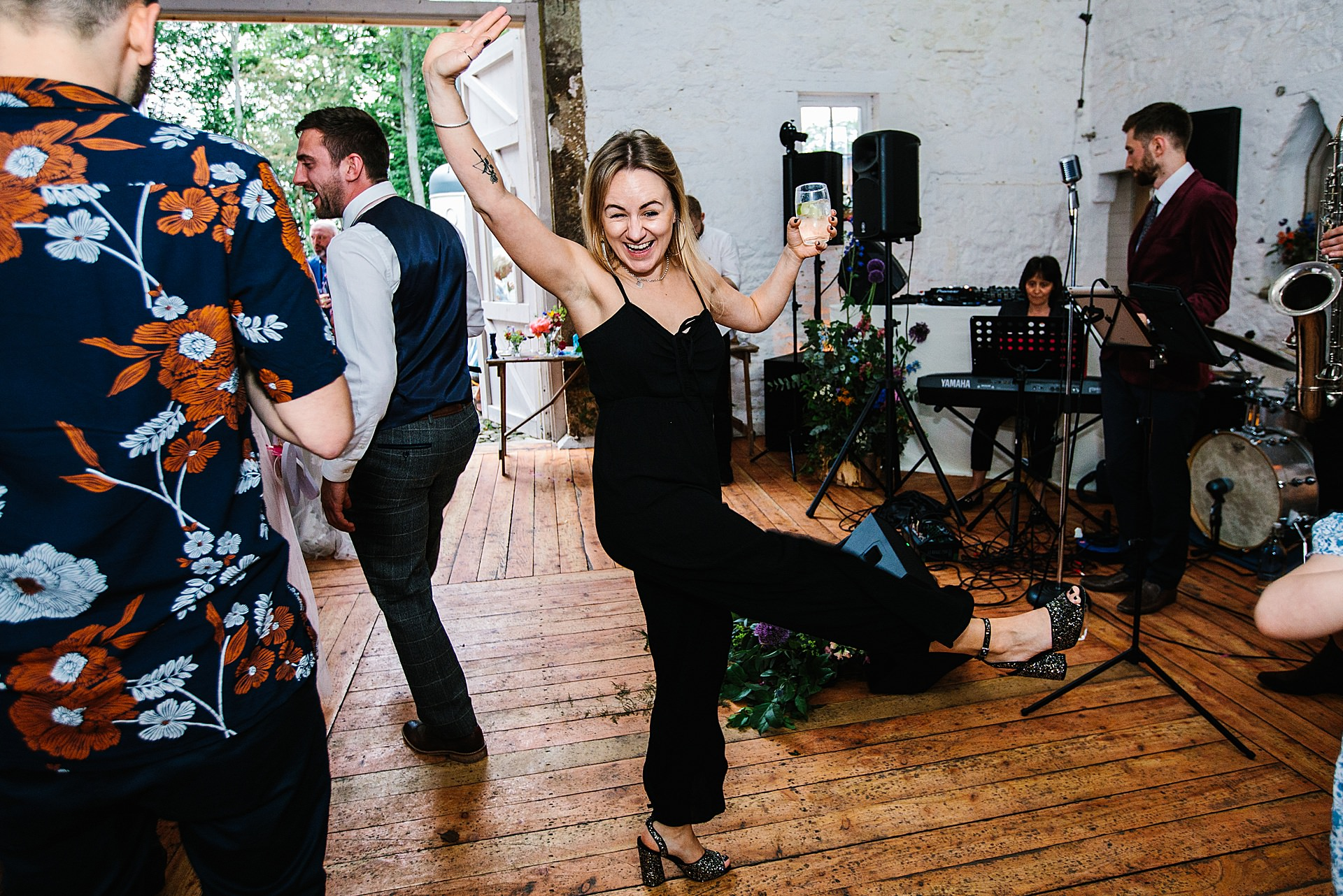 wedding guest dance moves on dance floor photography