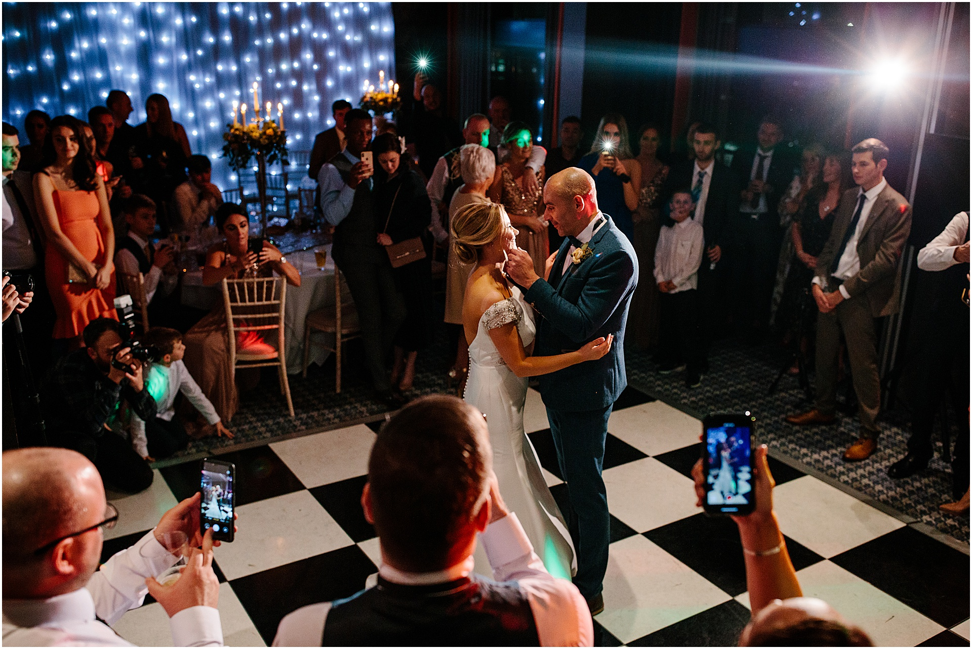 first dance with the bride and groom wedding photography