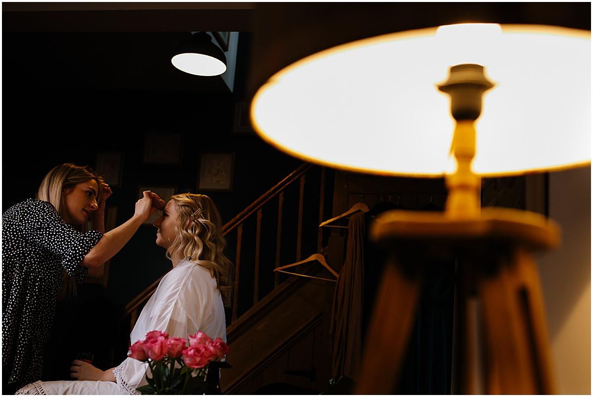bride wedding getting ready falcon manor