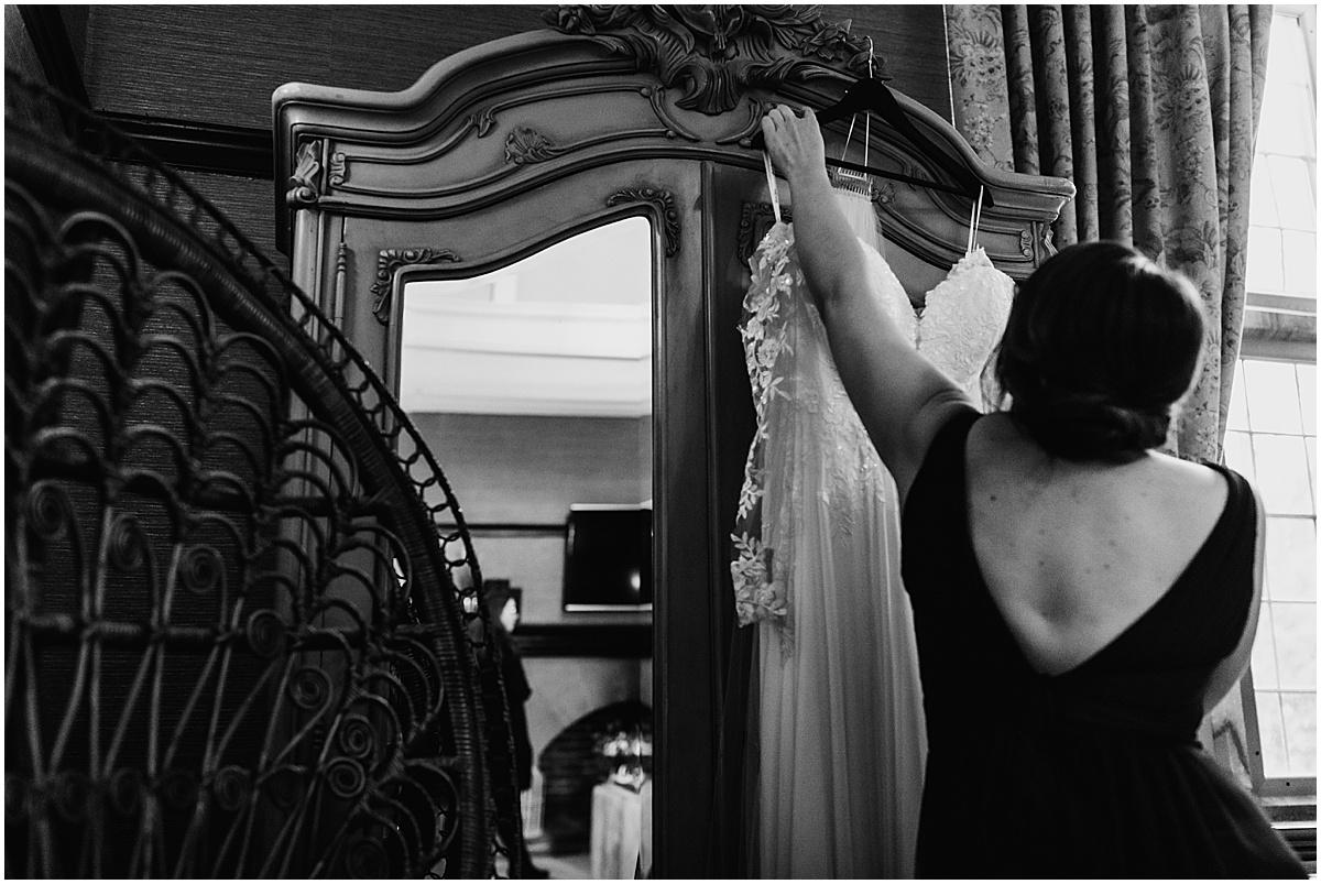 wedding dress at folkon manor wedding venue